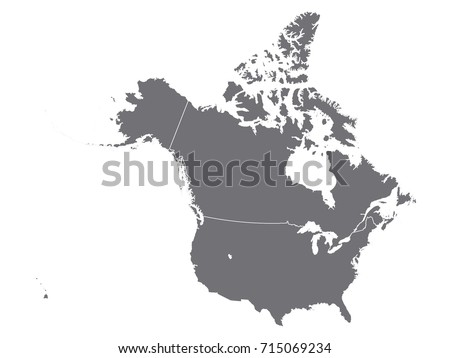 Vector Map Usa Canada Stock Vector Shutterstock - Map usa and canada