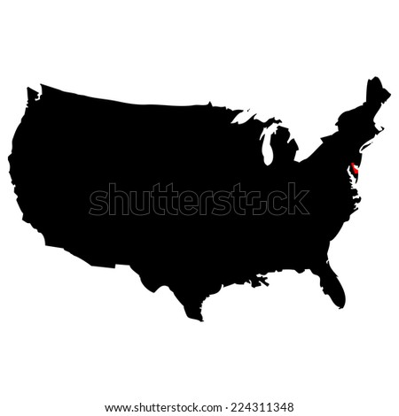 High Detailed Vector Map United States Stock Vector - Us vector map