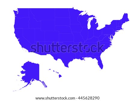 vector mapunited states america country on stock vector royalty