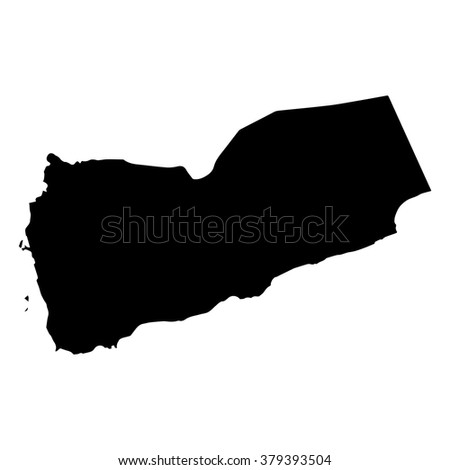 Vector map Yemen. Isolated vector Illustration. Black on White background. EPS Illustration. - stock vector