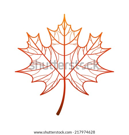 Vector maple leaf icon - stock vector