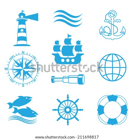 Vector marine icons