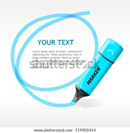 Vector marker text box - stock vector