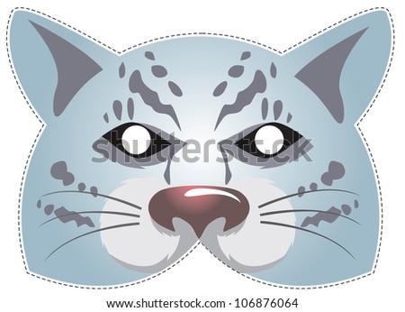 vector mask of snow leopard - stock vector