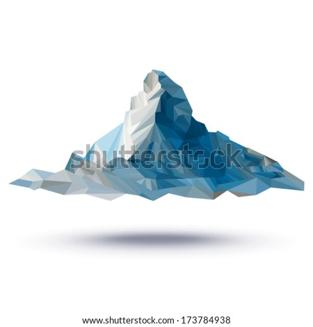 Vector - Matterhorn (illustration of a many triangles)  - stock vector