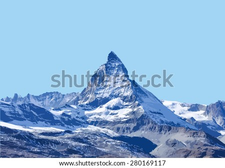 Vector , Matterhorn in StelliSee, Zermatt, Switzerland