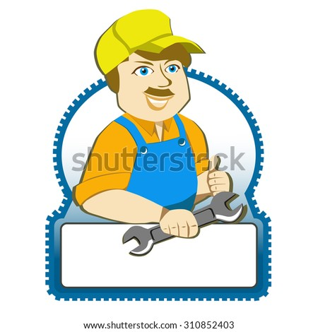 Vector mechanic with a wrench