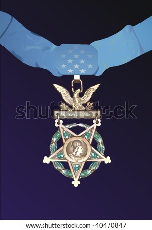 Vector medal of honor, vector illustration - stock vector