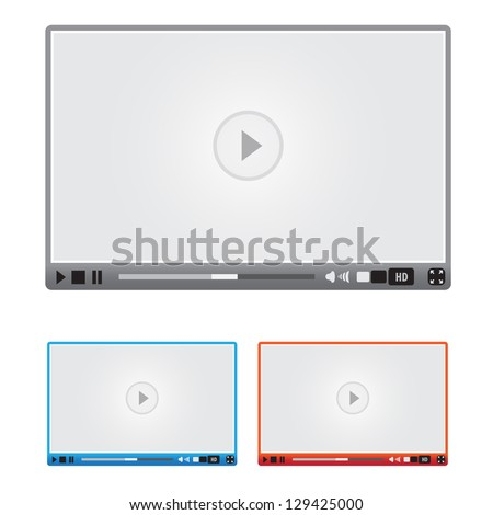 Vector media player - stock vector