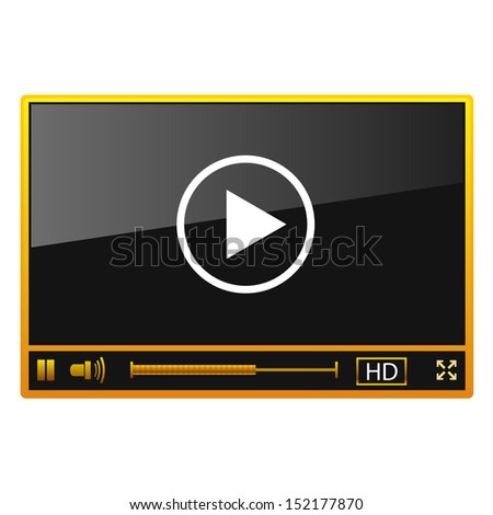 Vector media player - stock vector