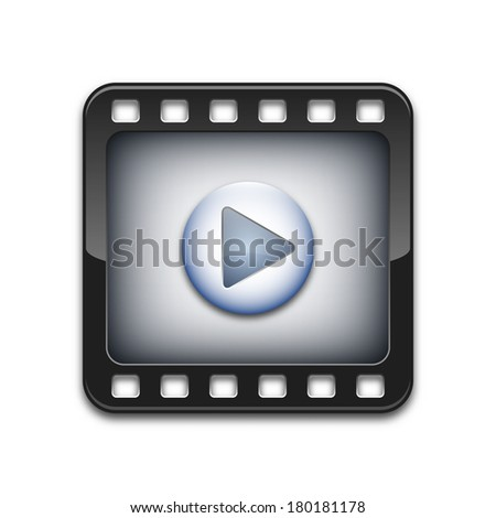 Vector media player icon