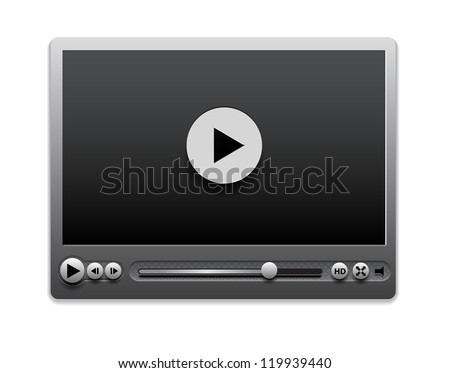 Vector media player interface - stock vector
