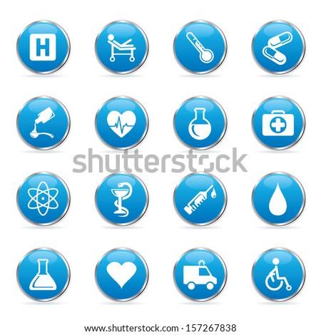 Vector medic icons set. - stock vector