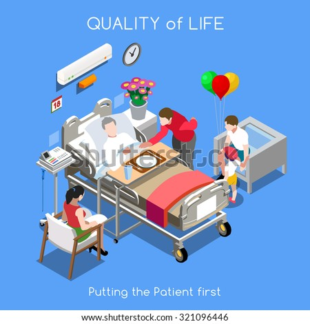 Vector Medical Hospital Bed Patient Room Stock Vector