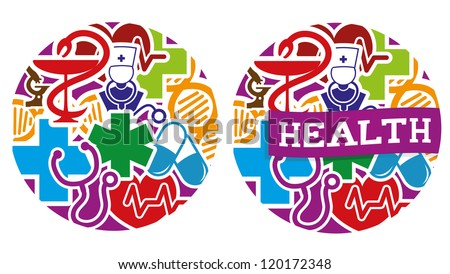 Vector. 2 medical icons. - stock vector