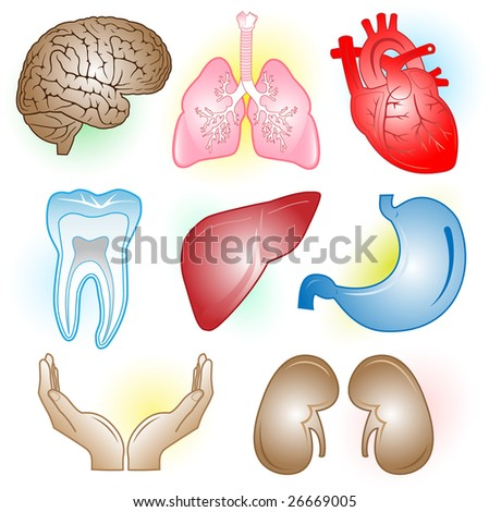 Vector medical icons. Color set. Simply change. - stock vector
