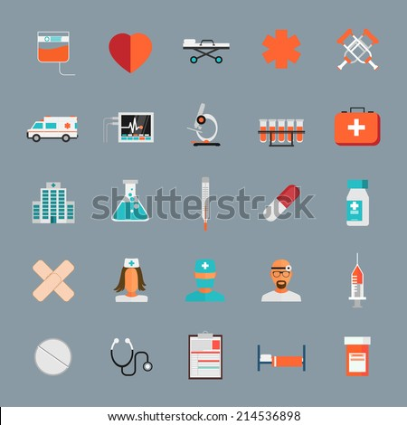 Vector Medical Icons 25 Set - stock vector
