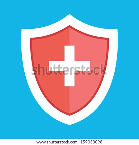 Vector Medical Shield Icon - stock vector