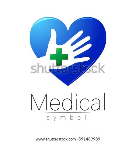 Vector Medical Sign Logo Cross On Stock Vector 591489989 Shutterstock