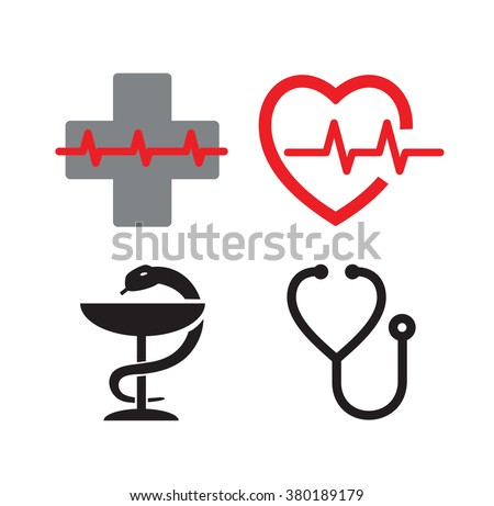vector medical symbol icons on white stock vector 380189179 rh shutterstock com vector medical services vector medical logo