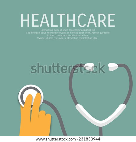 Vector medicine and healthcare background. Eps 10. - stock vector