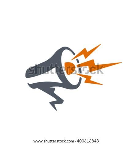 Vector megaphone icon - stock vector