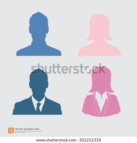 vector men and women business - avatar profile picture - stock vector