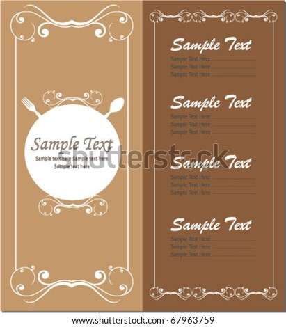 vector menu - stock vector