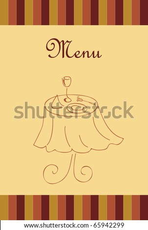 Vector menu for restaurant - stock vector