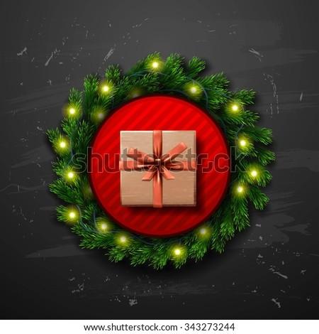 Vector Merry Christmas background - stock vector