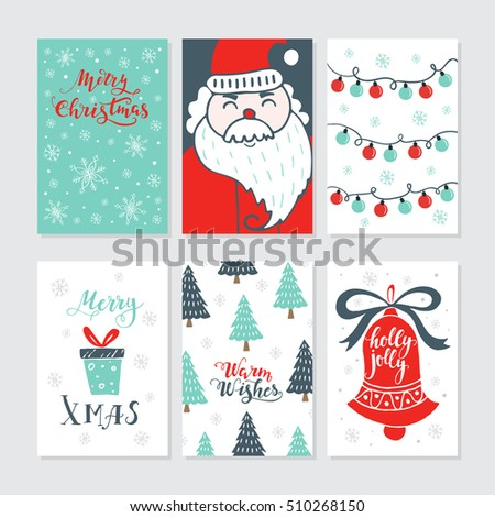 Vector Merry Christmas Greeting Cards Invitations Vector – Greeting Cards and Invitations
