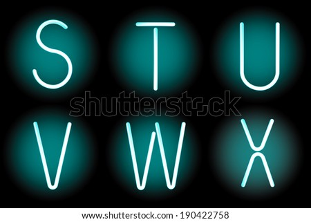 Vector mesh realistic letters of neon tubes. Gradient mash