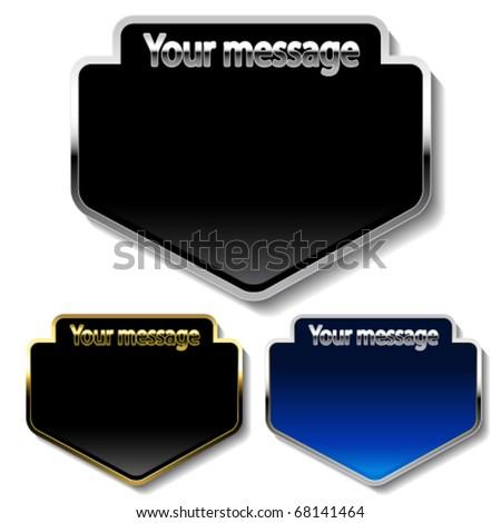 Vector message buttons - stock vector
