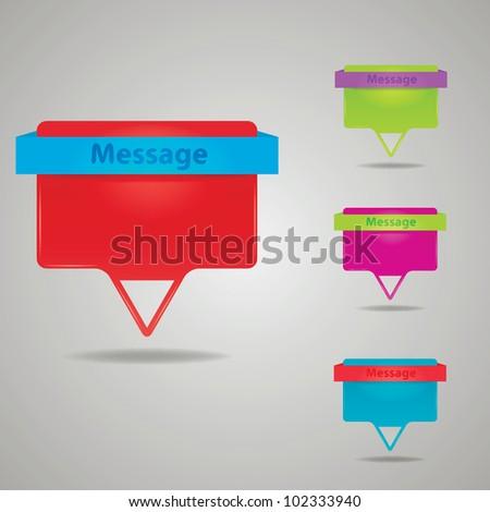 Vector message labels - stock vector