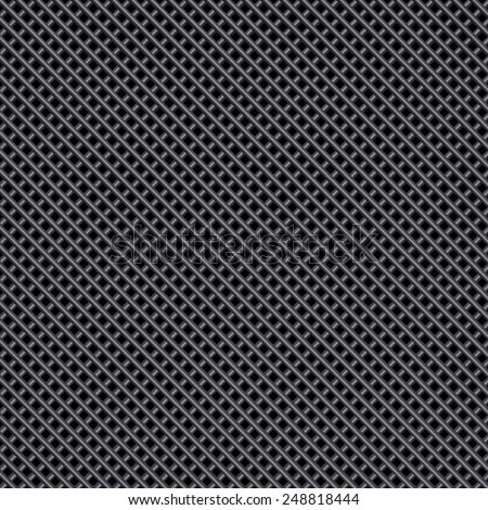 Vector metal background, mesh & grid pattern - stock vector