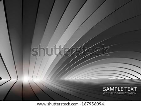 Vector metal background surface illustration for web design - Modern lighted silver vector background illustration  - stock vector