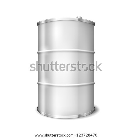 Vector Metal barrel over white background