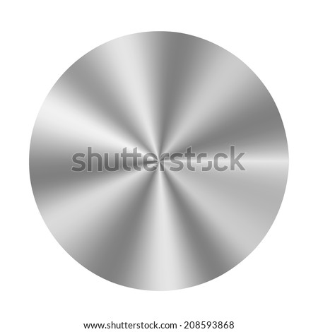 Vector metal button on white background