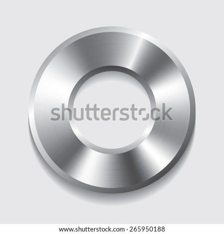 Vector metal donuts button with circular - stock vector
