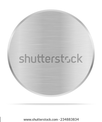 Vector Metal name plate or metal labels .Vector illustration - stock vector