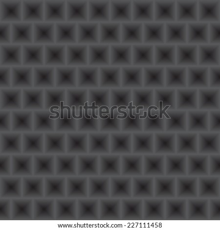 Vector metal texture. Metal grill seamless pattern. Abstract dark background.