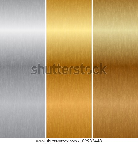 Vector metal textures - stock vector