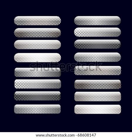 vector  metallic  buttons - stock vector