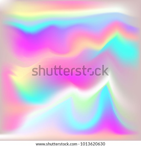 Vector Metallic Holographic Background. Neon shining background.