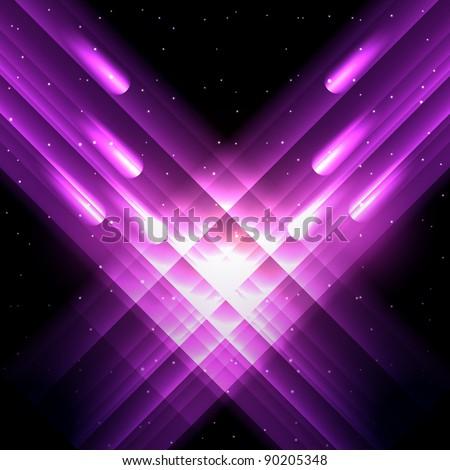 Vector meteor shower - EPS10 Illustration - stock vector