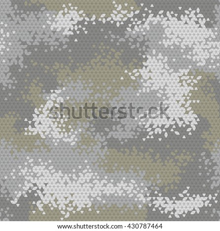 Vector military triangle camo seamless pattern. Vector illustration can be used for wallpaper, pattern fills, web page background, print on fabric or wrapping paper. Dingy green color combination - stock vector