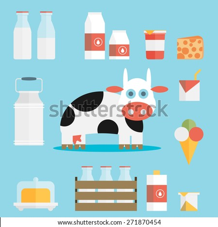 vector milk icon - stock vector
