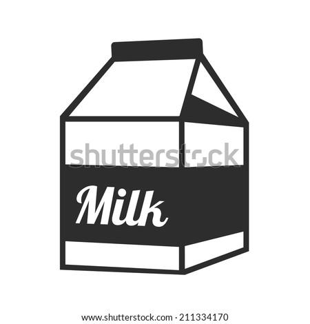 Vector Milk Package Black Icon - stock vector