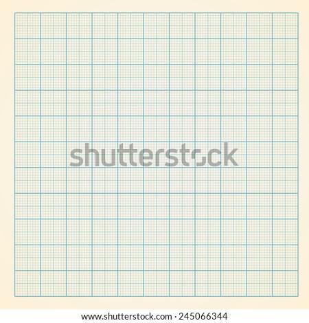 Vector millimeter engineering paper background - stock vector