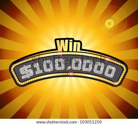 Vector Millionaire Contest Masthead - stock vector
